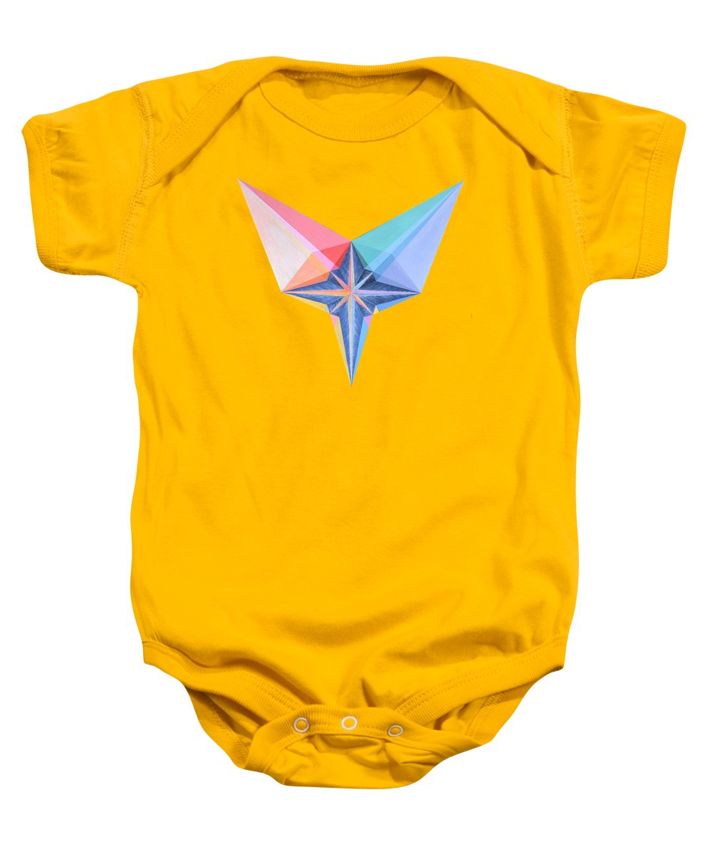 Painting Baby Onesie featuring the painting Luminary by Michael Bellon