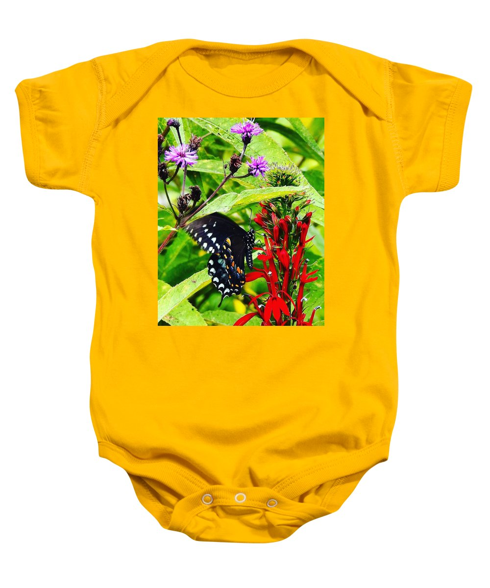 Macro Baby Onesie featuring the pyrography Macro Nature by Greg Kear