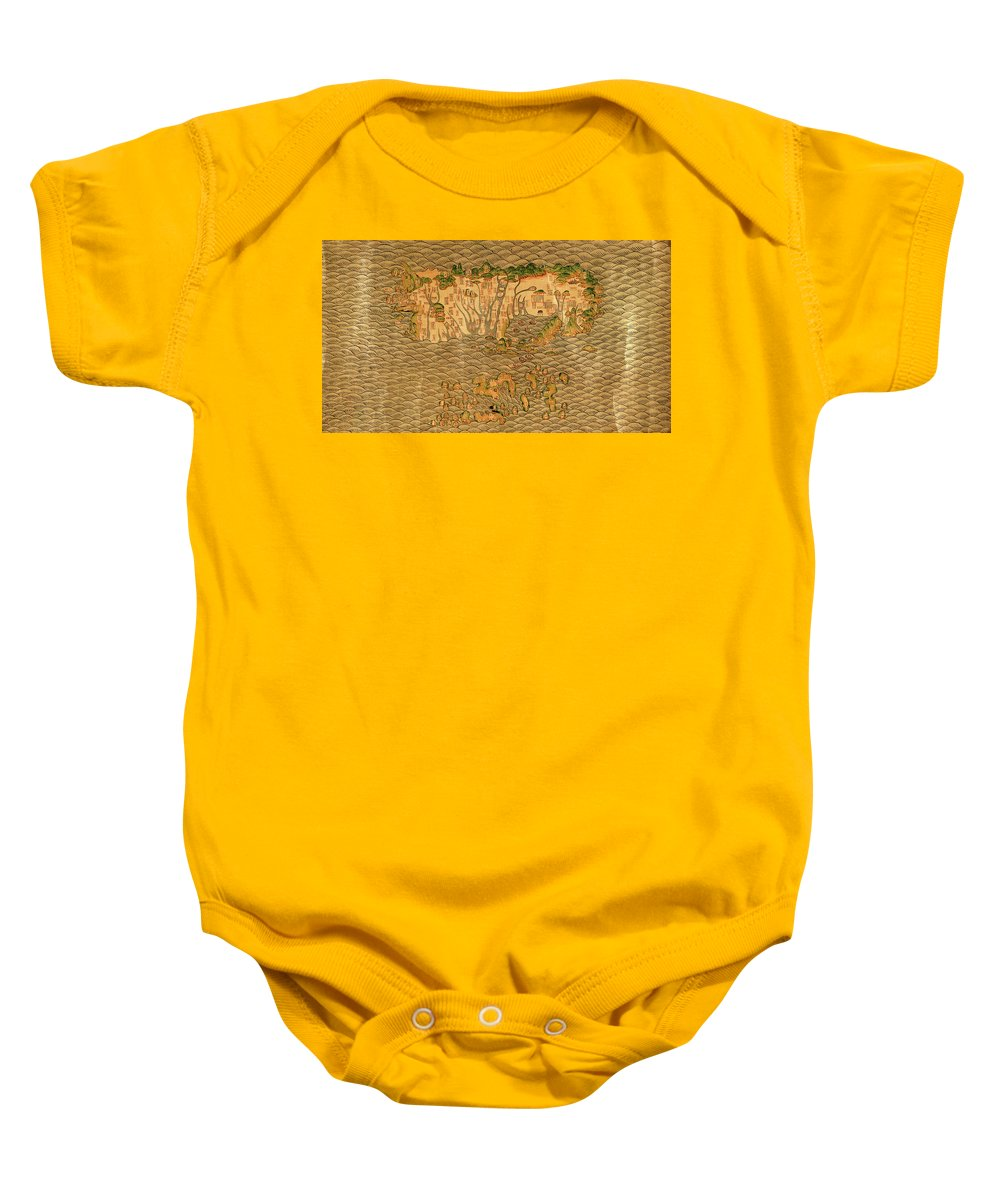 Map Of Taiwan Baby Onesie featuring the photograph Map Of Taiwan 1700 by Andrew Fare