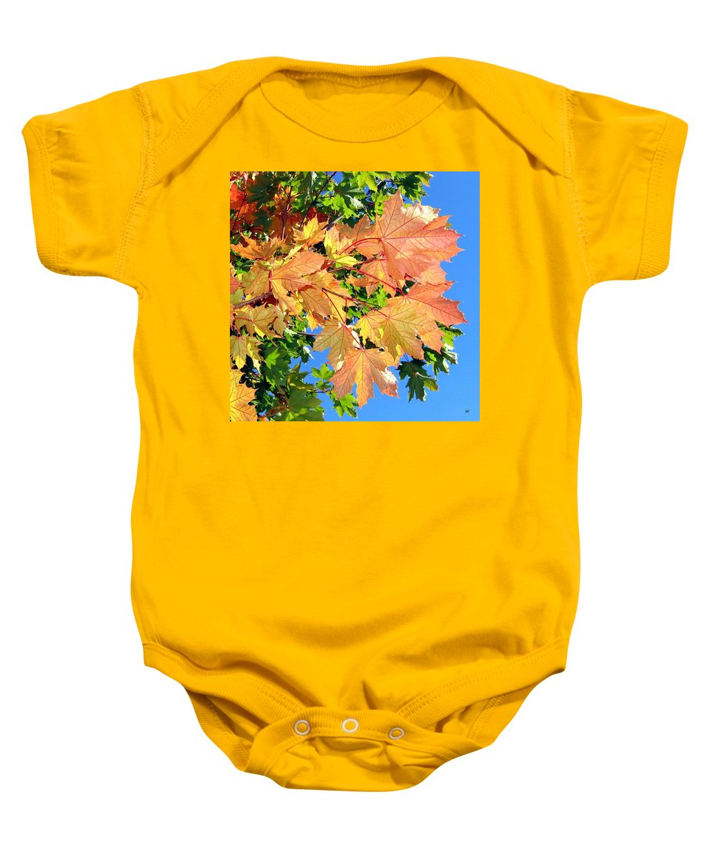 Autumn Baby Onesie featuring the photograph Maple Mania 1 by Will Borden