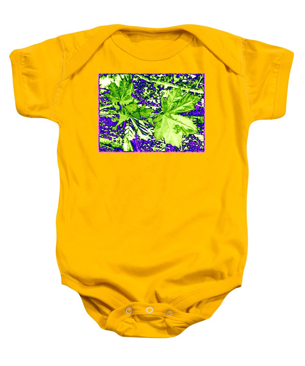 Maple Leaves Baby Onesie featuring the digital art Maple Mania 19 by Will Borden