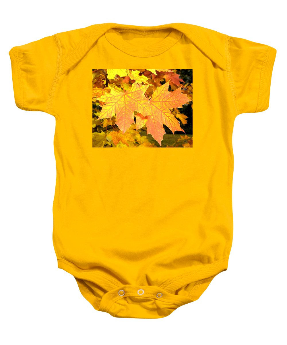 Autumn Baby Onesie featuring the photograph Maple Mania 2 by Will Borden