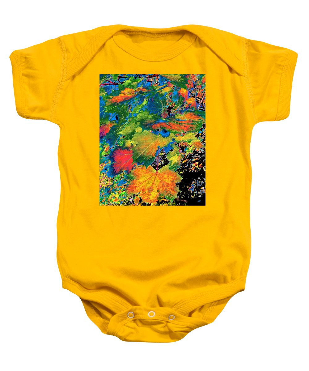 Photo Design Baby Onesie featuring the digital art Maple Mania 3 by Will Borden
