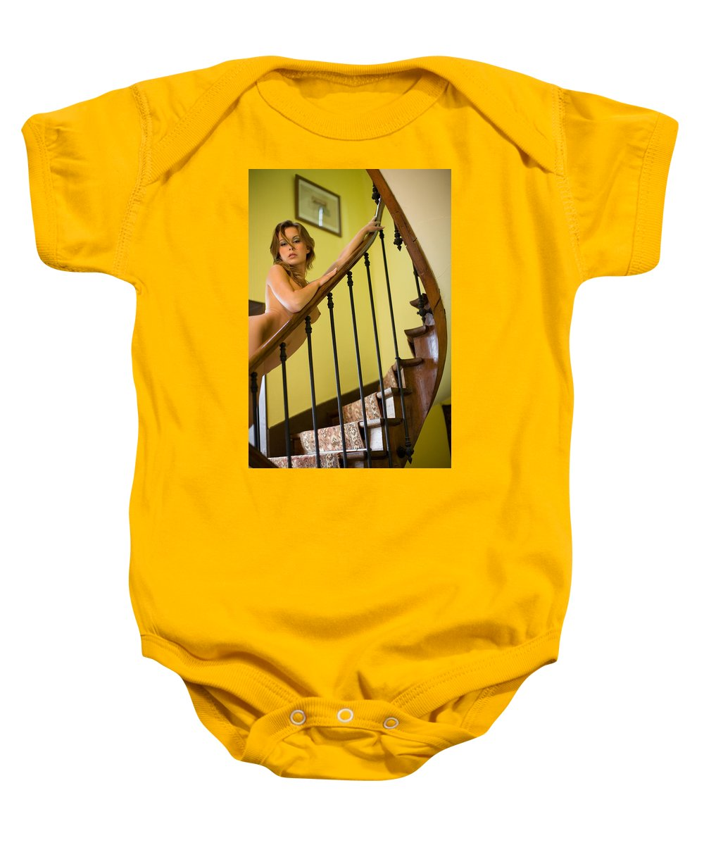 Sensual Baby Onesie featuring the photograph Marie by Olivier De Rycke