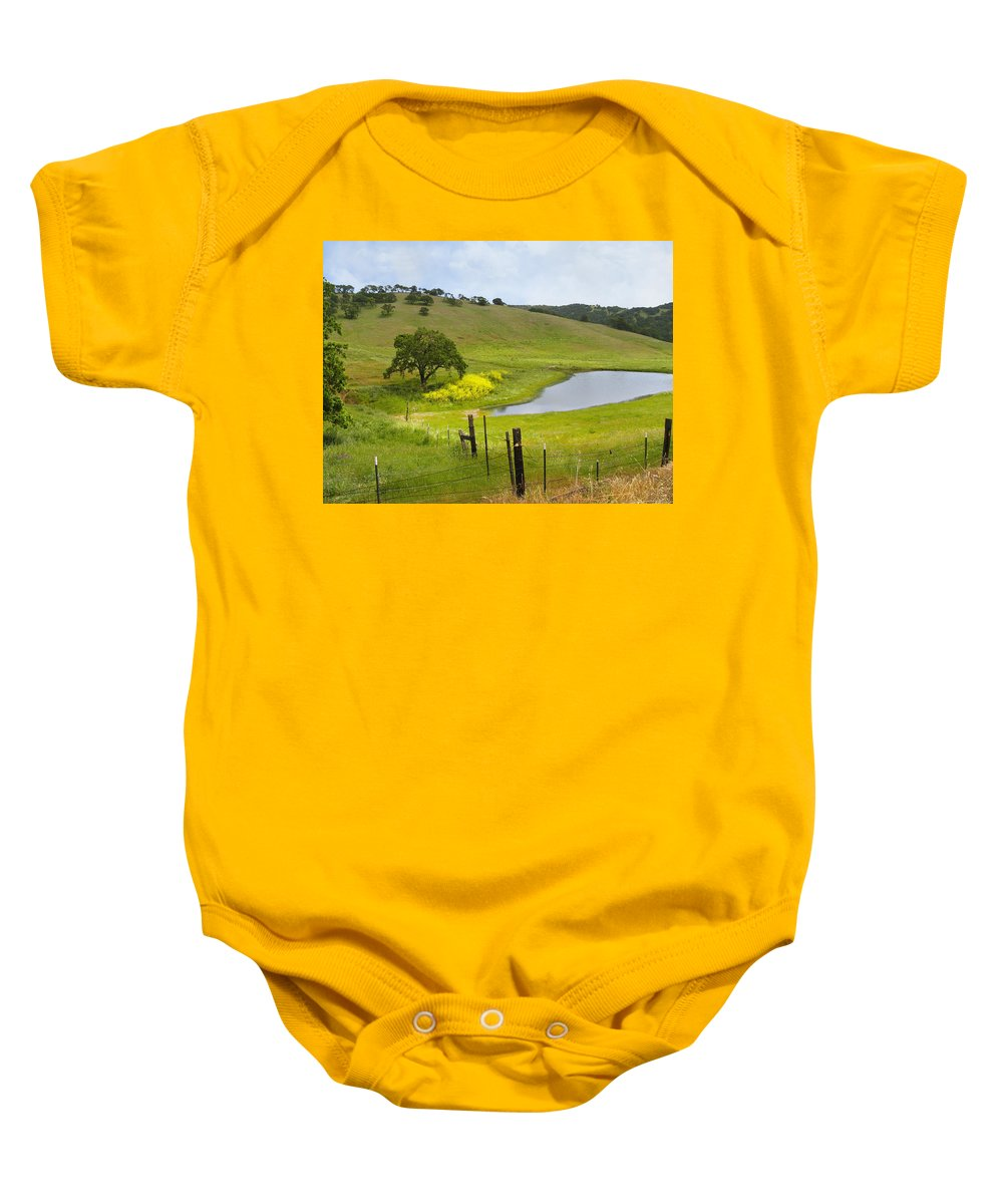 Landscape Baby Onesie featuring the photograph Marsh Creek Road by Karen W Meyer