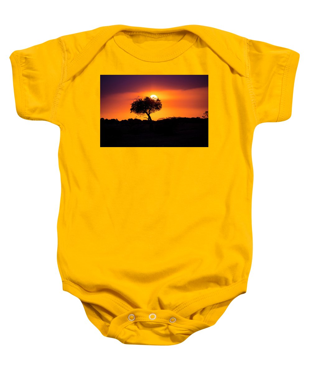 Africa Baby Onesie featuring the photograph Masai Mara Sunrise by David Morefield