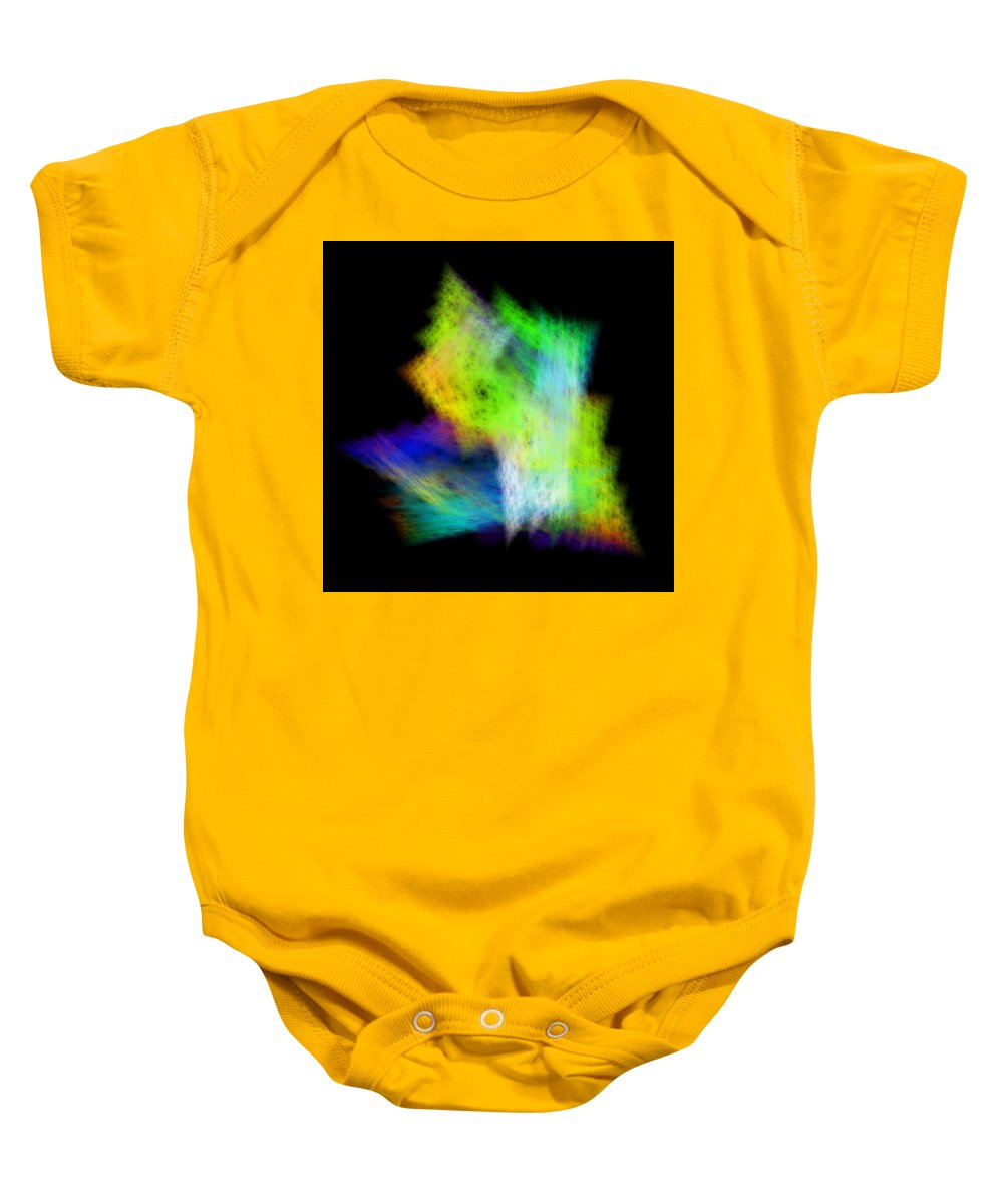 Abstract Baby Onesie featuring the digital art Medictates by Andrew Kotlinski