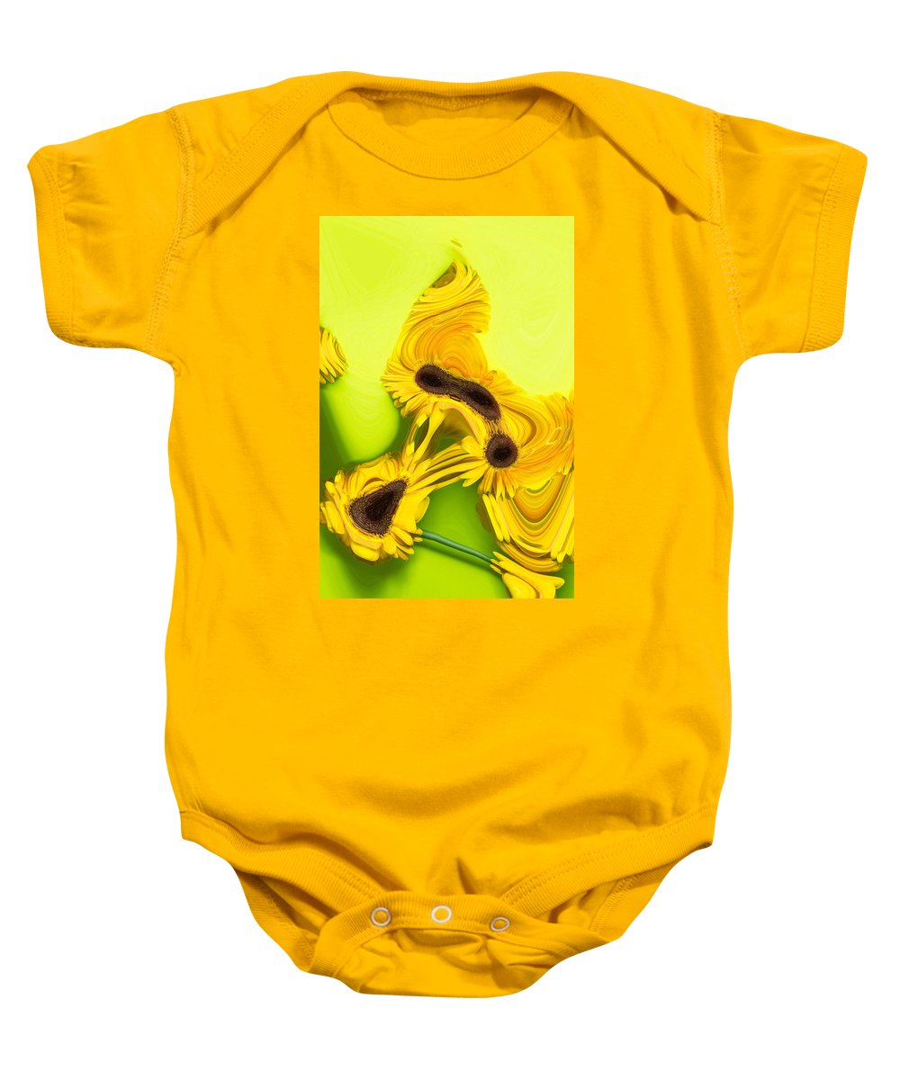 Color Baby Onesie featuring the photograph Melted Flowers by Marshall Barth