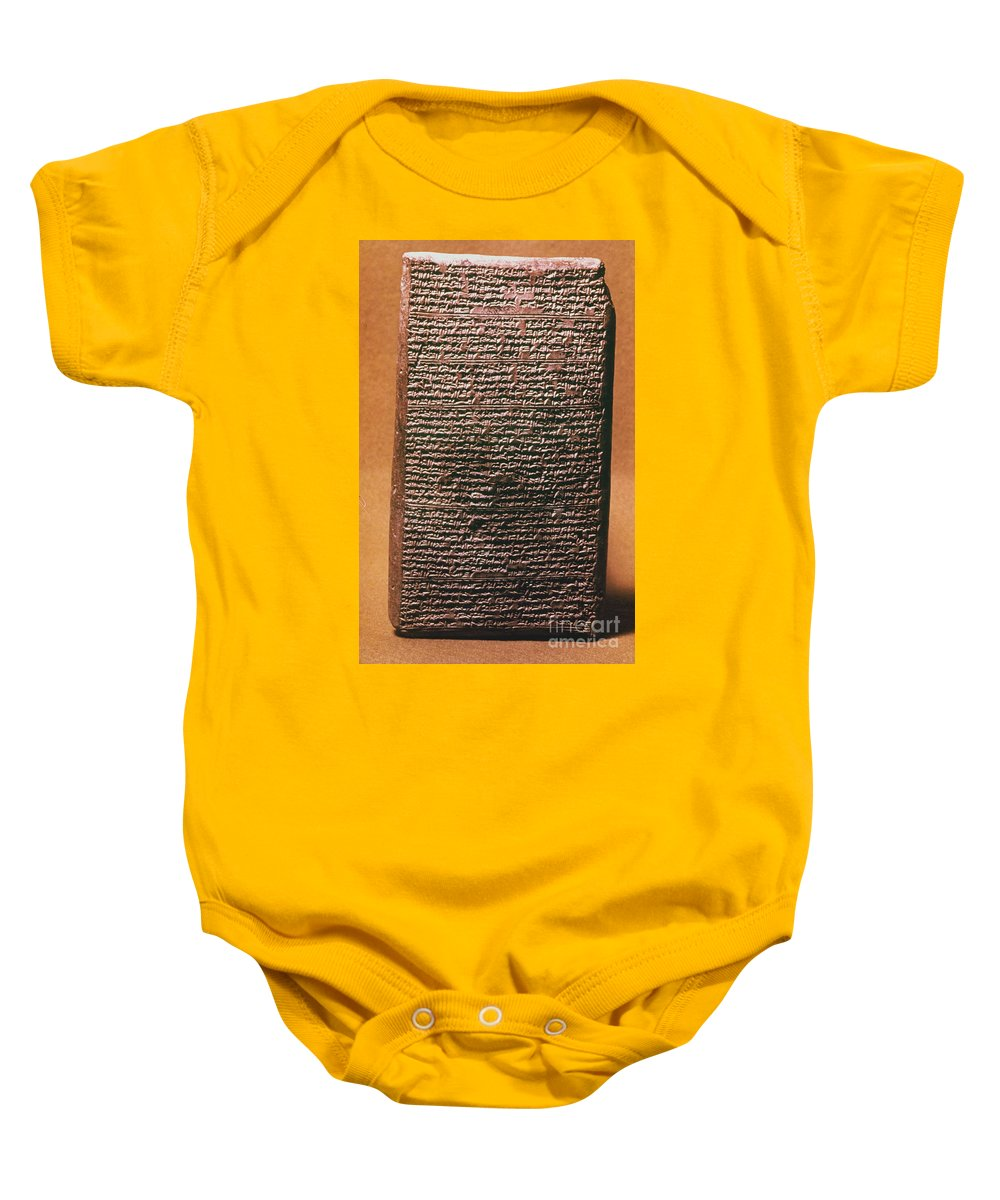 1400 B.c. Baby Onesie featuring the photograph Mesopotamian Cuneiform by Granger