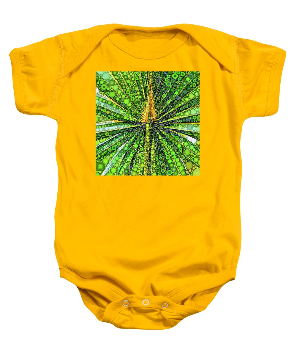 Mexican Baby Onesie featuring the digital art Mexican Fan Palm Leaf by Dana Roper