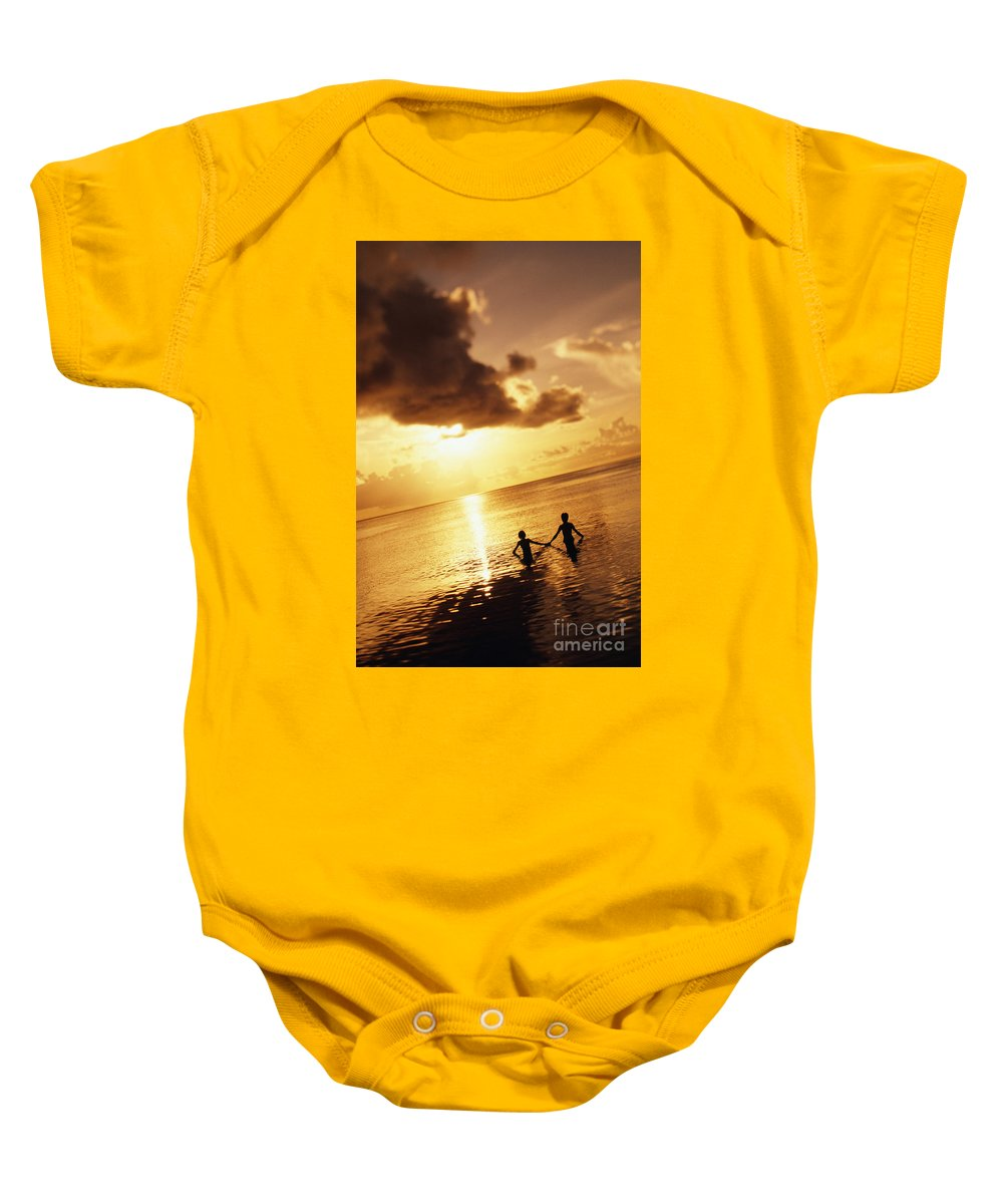 Affection Baby Onesie featuring the photograph Micronesia, Guam by Dana Edmunds - Printscapes