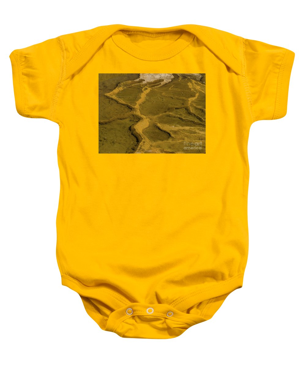 Minerva Terrace Baby Onesie featuring the photograph Minerva Terrace Detail 4 by Tracy Knauer