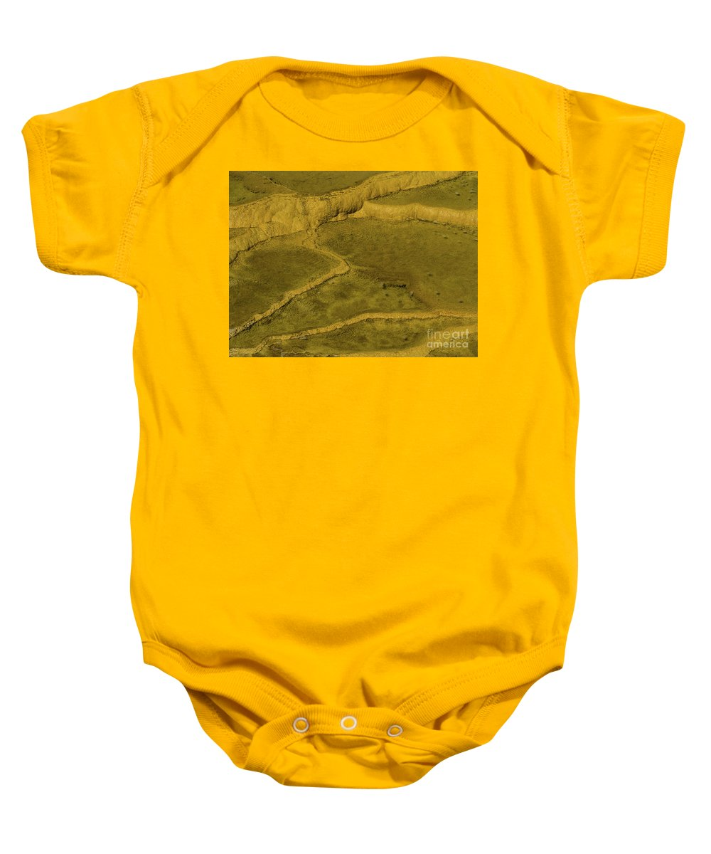 Minerva Terrace Baby Onesie featuring the photograph Minerva Terrace Detail by Tracy Knauer
