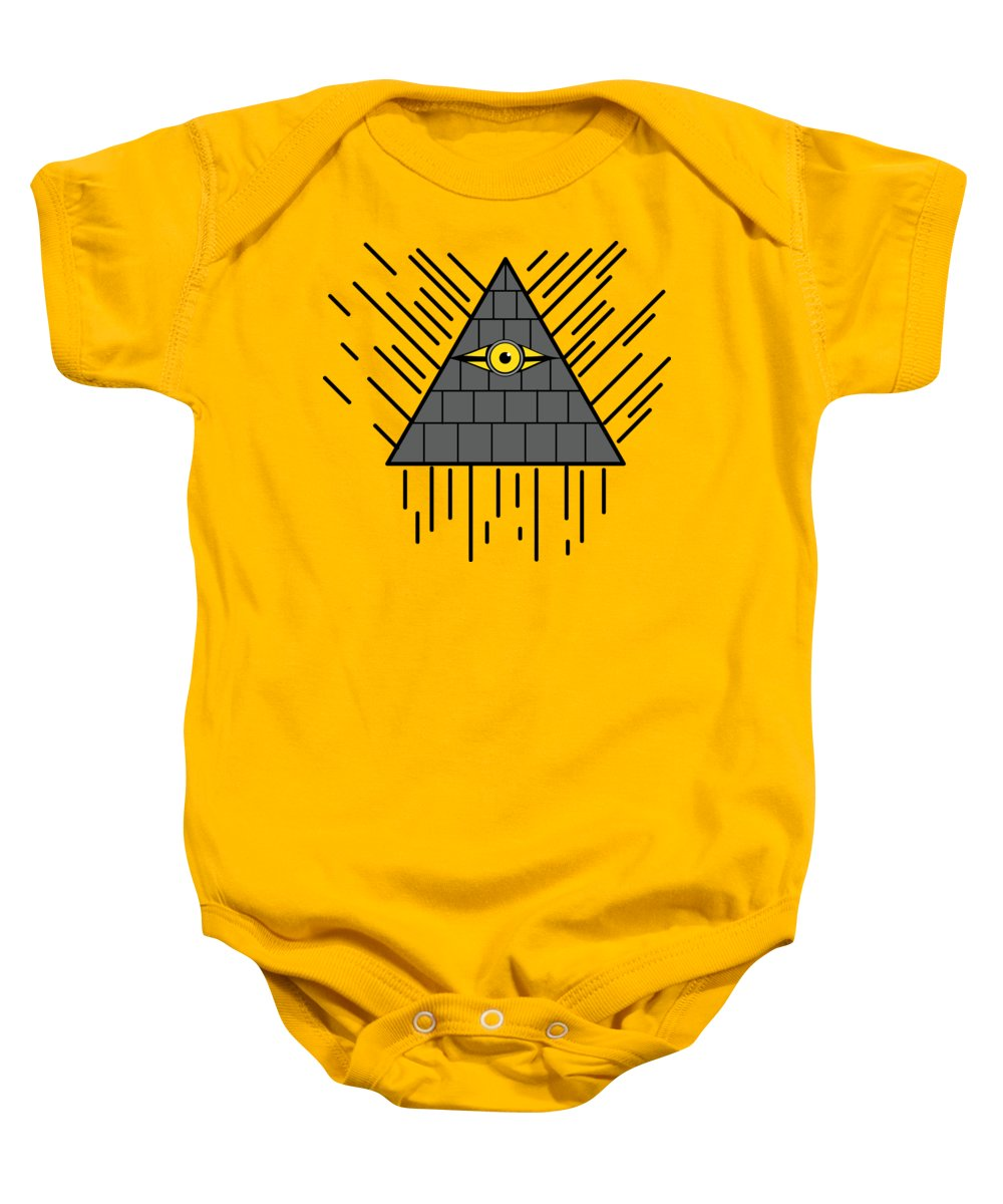8c780dbfc99c Design Baby Onesie featuring the digital art Minion Eye Of Providence by  Shiva Chauhan