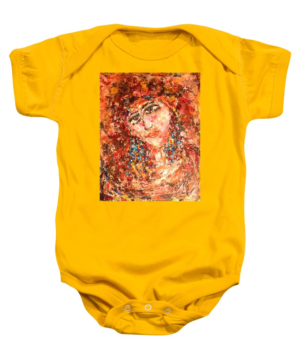 Sadness Baby Onesie featuring the painting Missing You by Natalie Holland