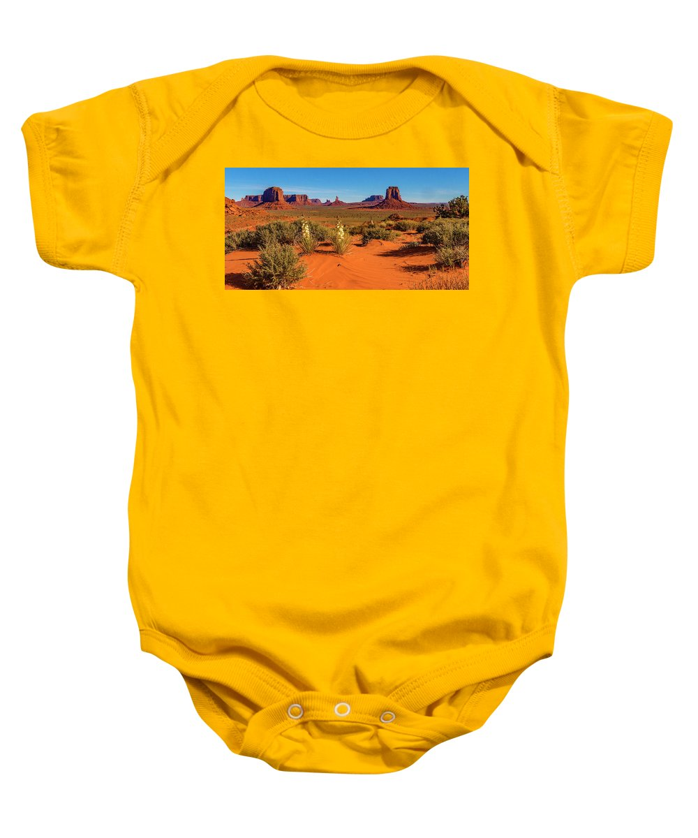 Monument Valley Baby Onesie featuring the photograph Monument Valley by Norman Hall