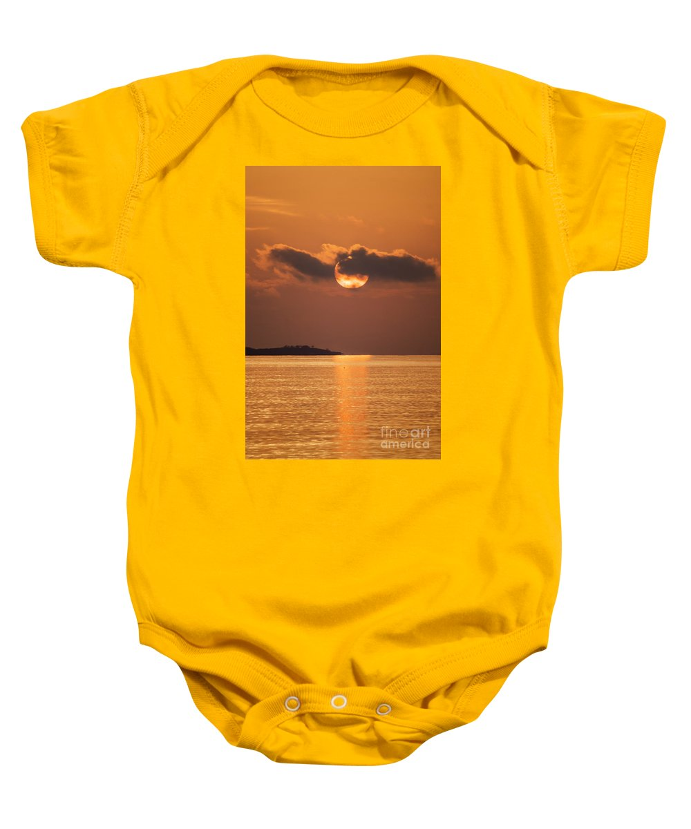 Borough Baby Onesie featuring the photograph Mood Lighting by Joe Geraci