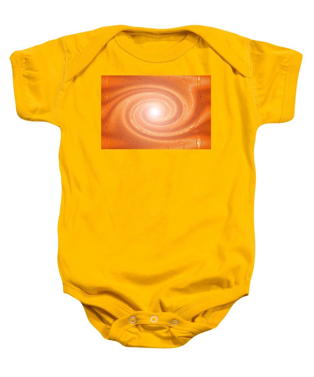 Moveonart! New York / San Francisco / Oklahoma / Portland / Missoula Jacob Kanduch Baby Onesie featuring the digital art Moveonart Movement In Orange 3 by Jacob Kanduch