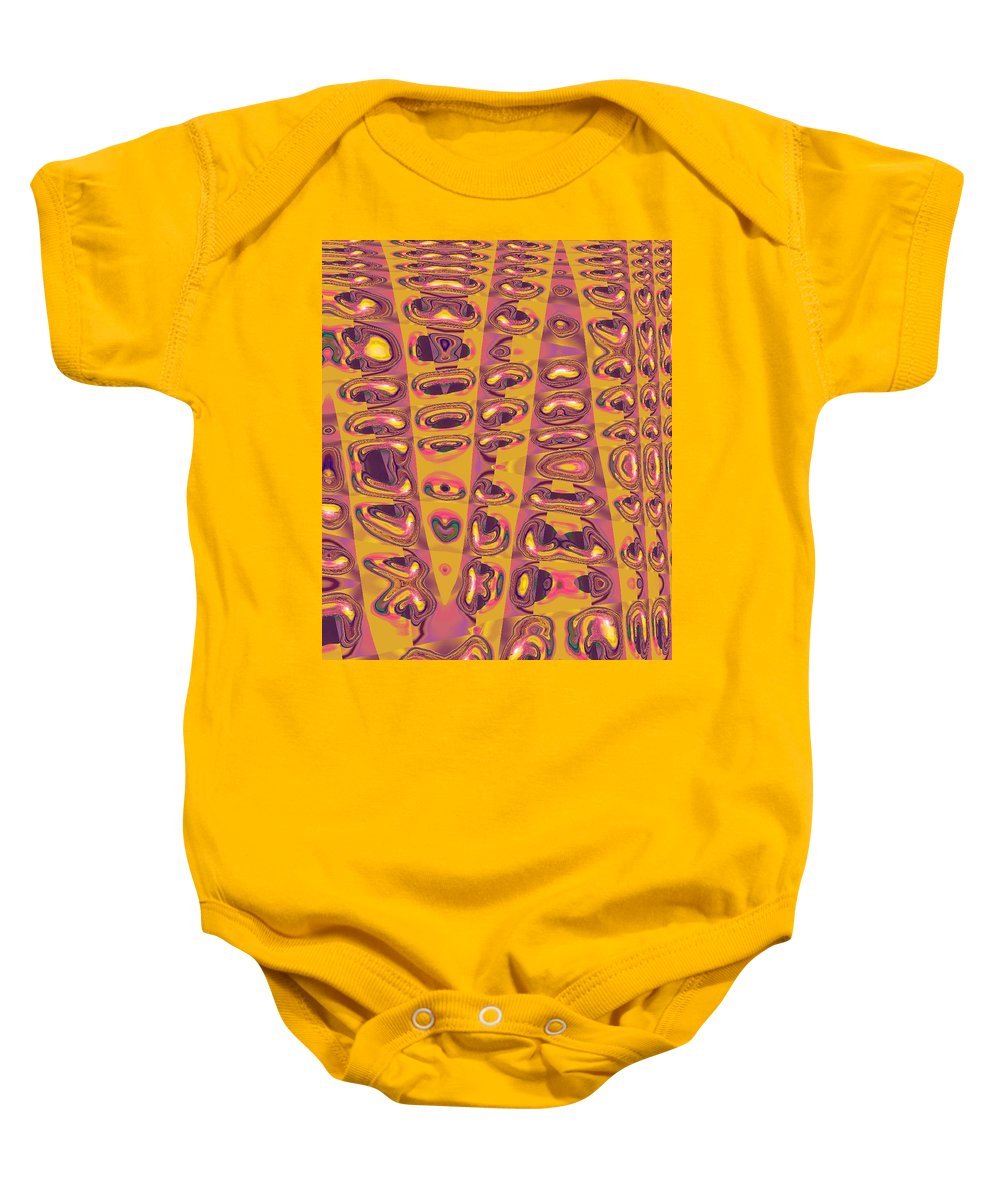 Moveonart! Digital Gallery Baby Onesie featuring the digital art Moveonart Touched 2 by Jacob Kanduch