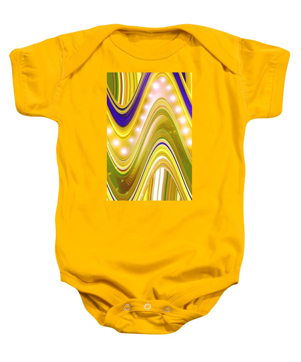 Moveonart! Digital Gallery Baby Onesie featuring the digital art Moveonart Wave Of Enlightenment Four by Jacob Kanduch
