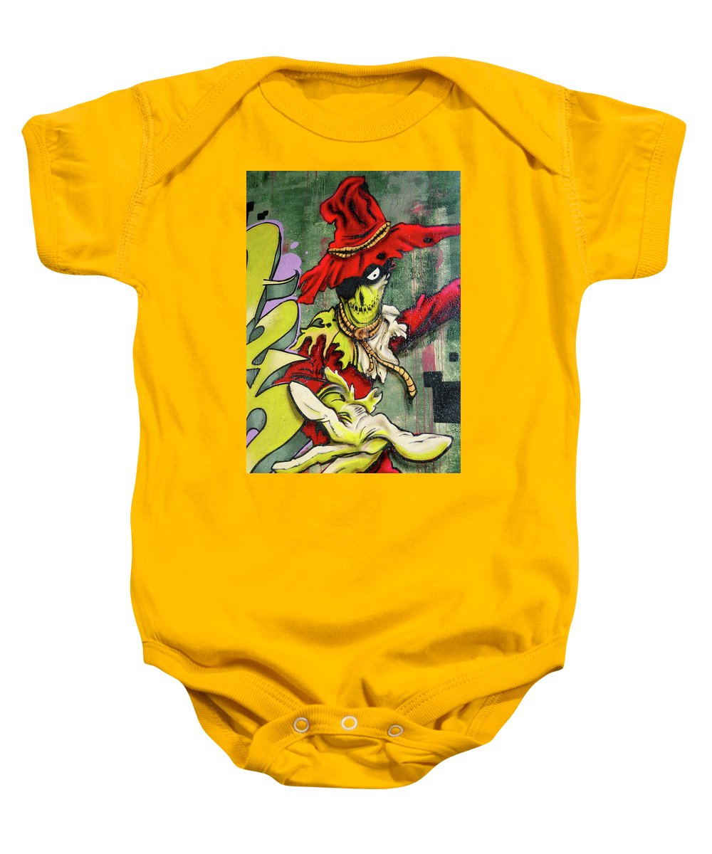 Paint Baby Onesie featuring the photograph Mr. Graffiti by Juergen Weiss