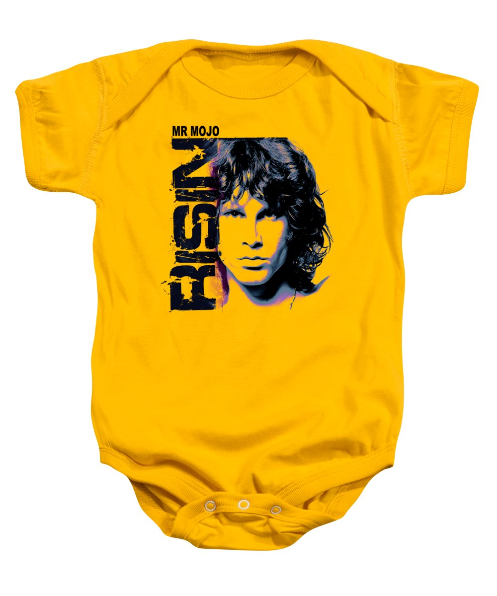The Doors Baby Onesie featuring the digital art Mr Mojo Risin by Mal Bray