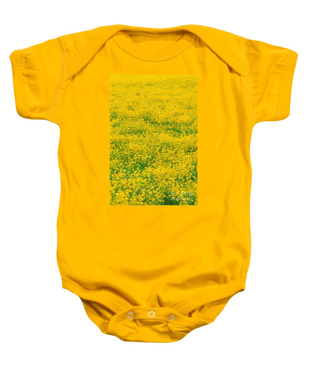 Bloom Baby Onesie featuring the photograph Mustard Flowers by Greg Vaughn - Printscapes