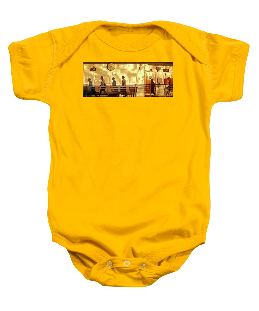 Manzanillo Baby Onesie featuring the photograph My Shadows 1 by Ron Kandt