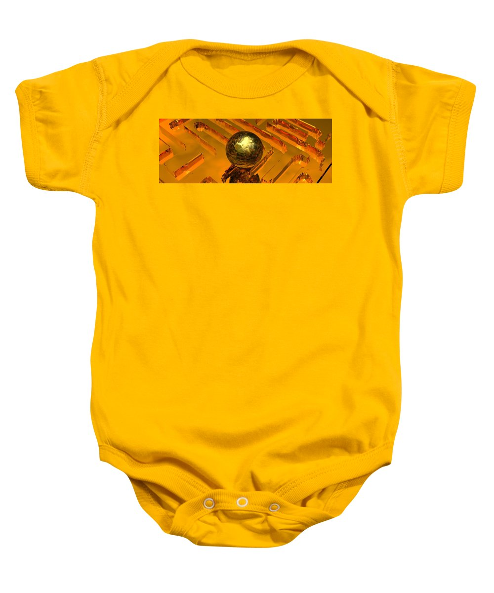 Mystical Baby Onesie featuring the digital art Mystic Vision by Oscar Basurto Carbonell