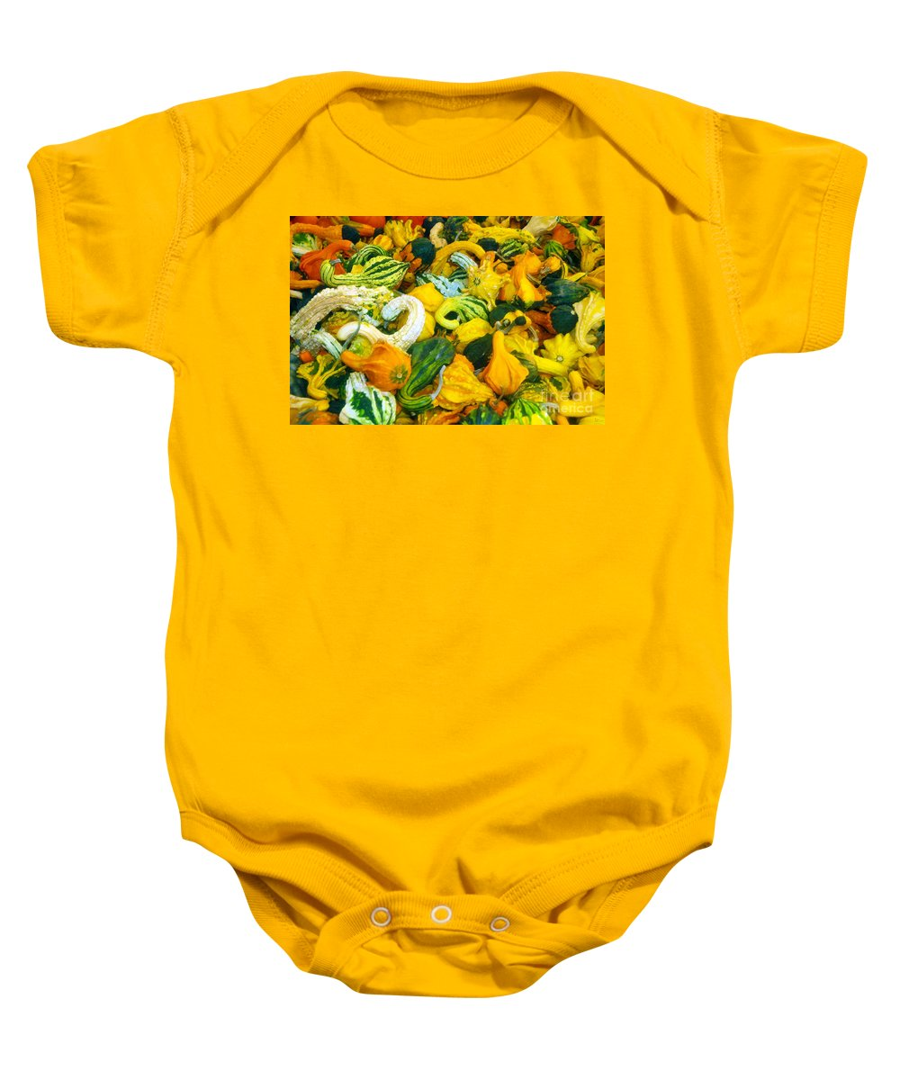 Nature Baby Onesie featuring the painting Natures Bounty by David Lee Thompson
