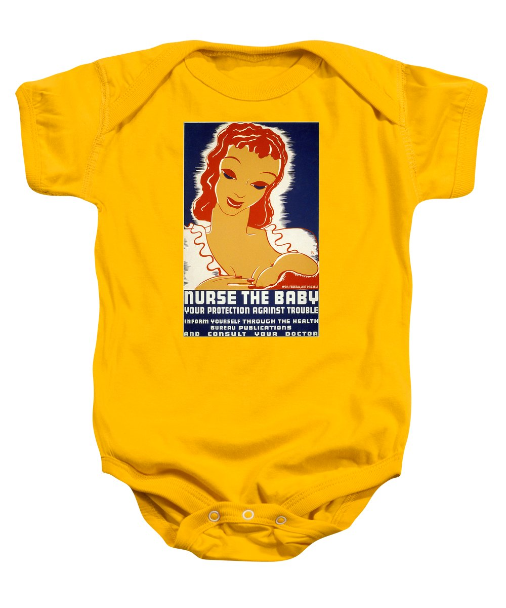 1936 Baby Onesie featuring the photograph New Deal: Wpa Poster, 1936 by Granger
