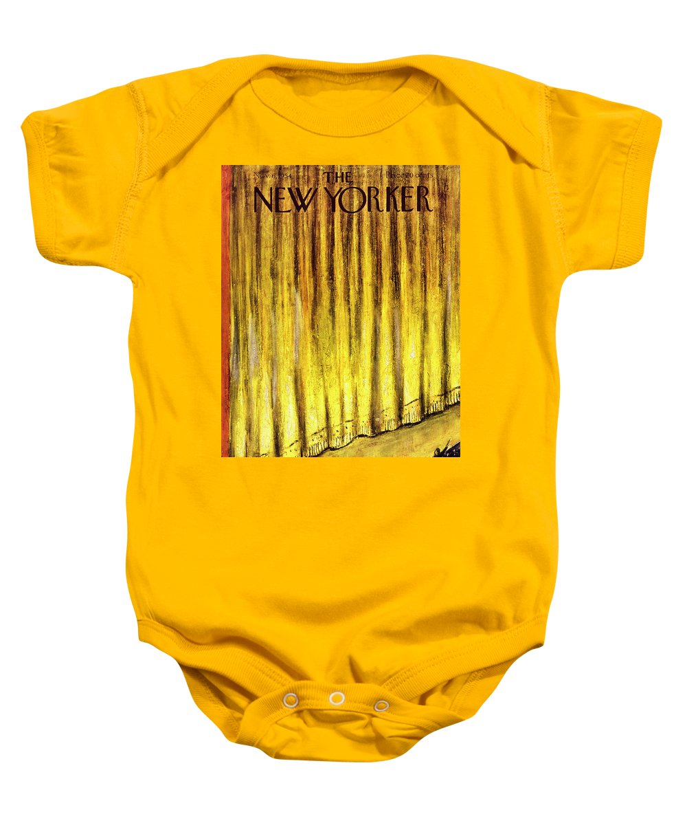 Stage Baby Onesie featuring the painting New Yorker November 6 1954 by Abe Birnbaum