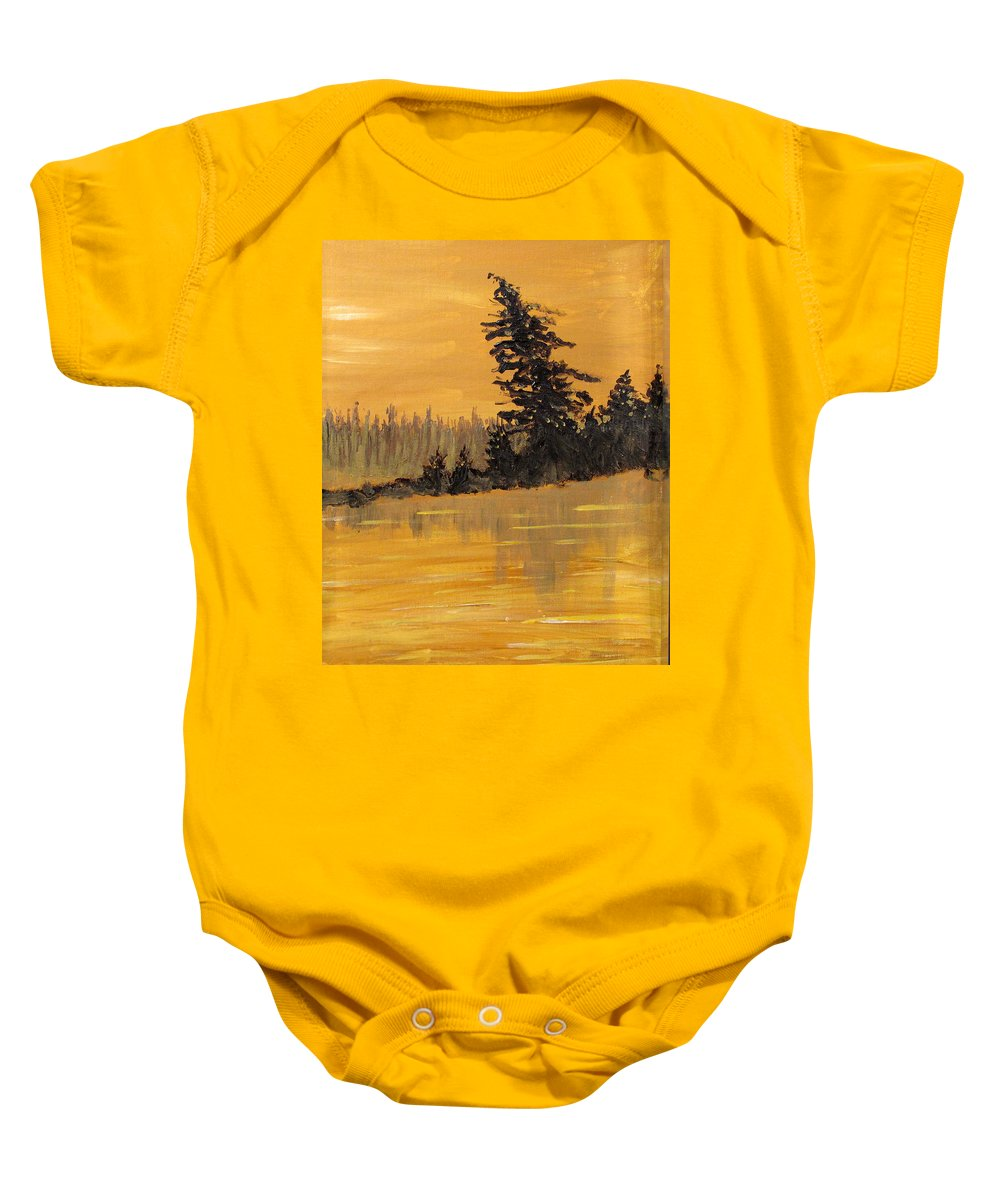 Northern Ontario Baby Onesie featuring the painting Northern Ontario Three by Ian MacDonald