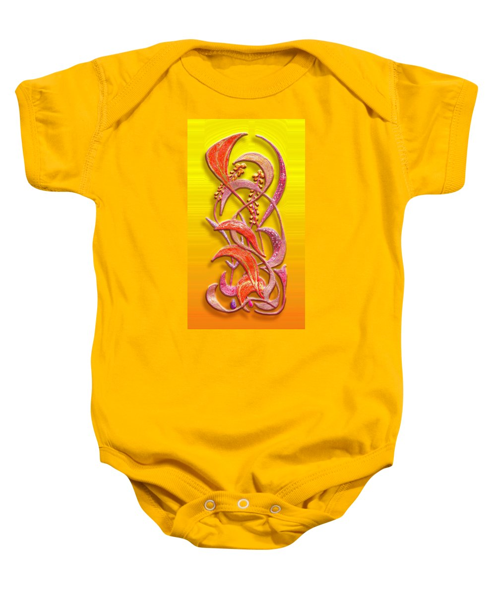 Yellow Baby Onesie featuring the greeting card October Grass V2 by Mark Sellers