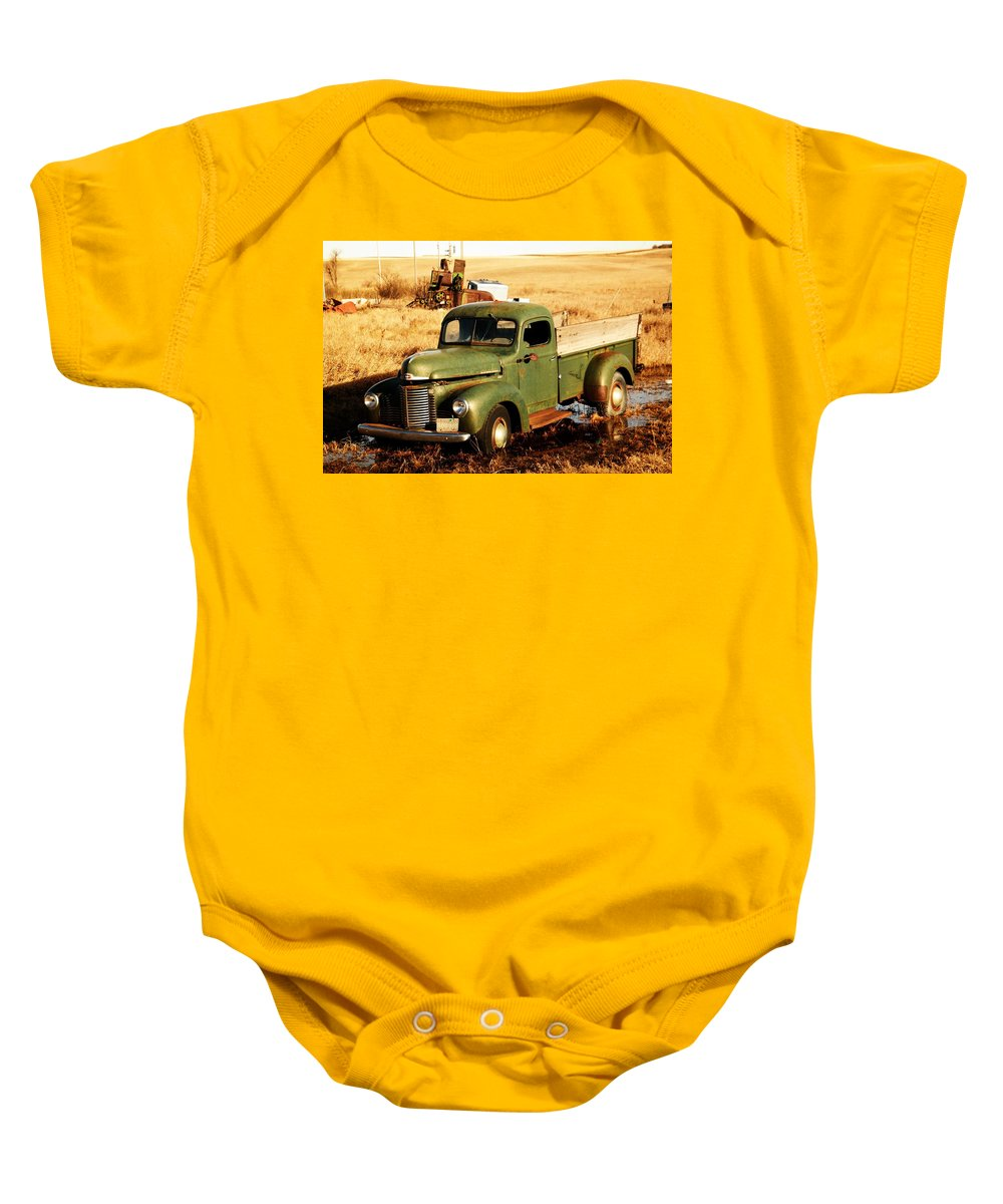 Pickup Baby Onesie featuring the photograph Old Pickup by Jeff Swan