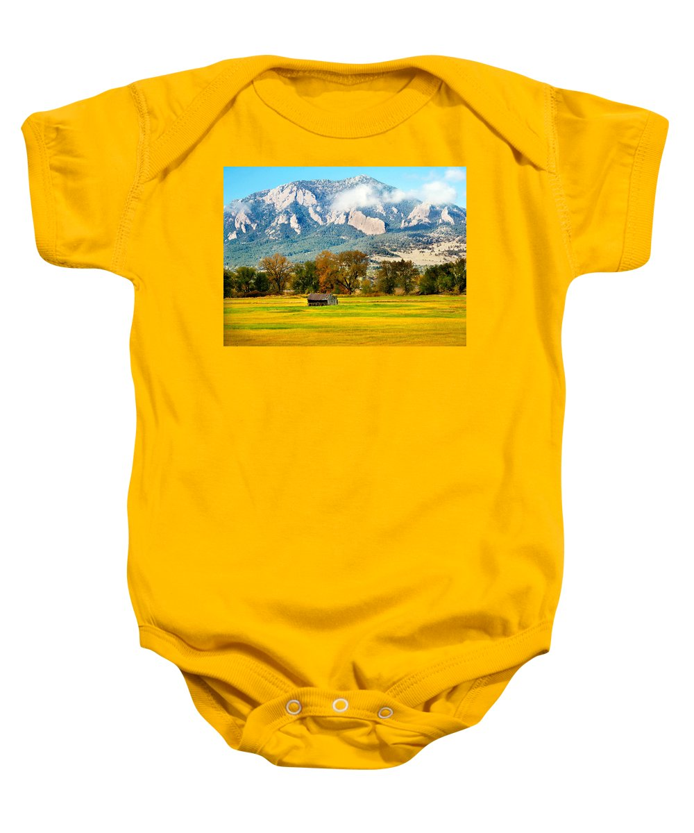 Rural Baby Onesie featuring the photograph Old Shed by Marilyn Hunt