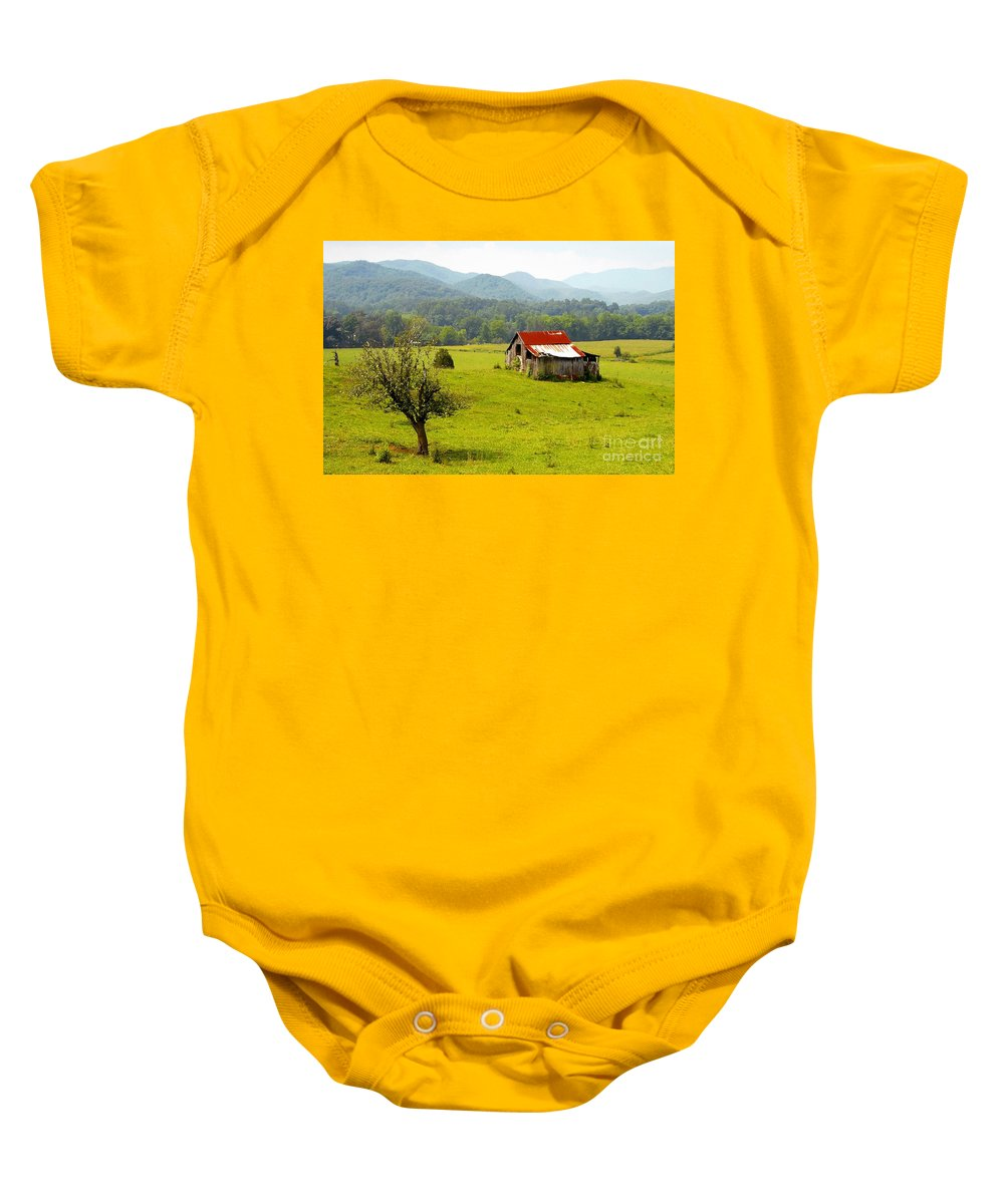 Farm Baby Onesie featuring the photograph Once Upon A Time by David Lee Thompson