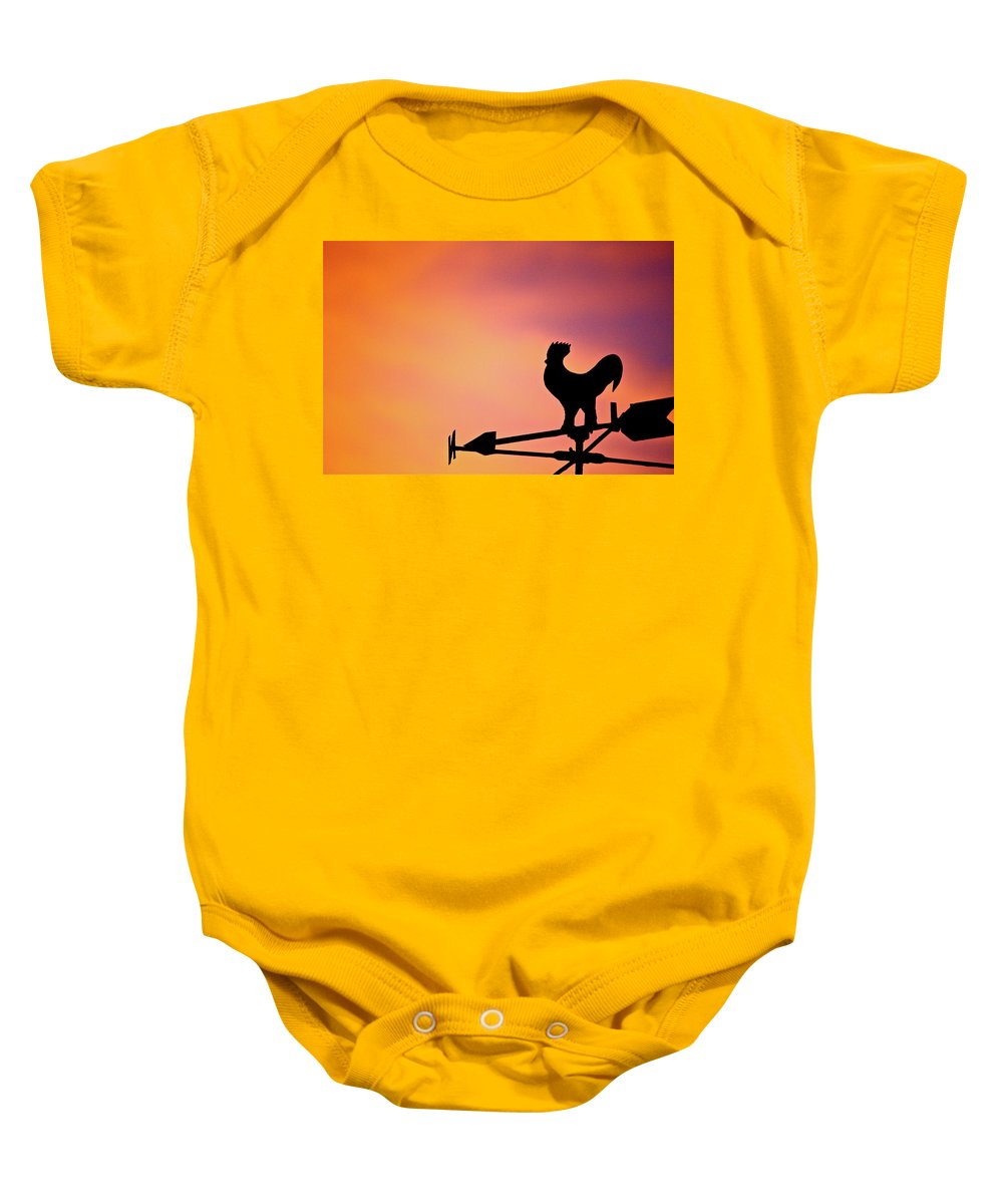 Sun Baby Onesie featuring the photograph One Sunday Morning by Diana Hatcher