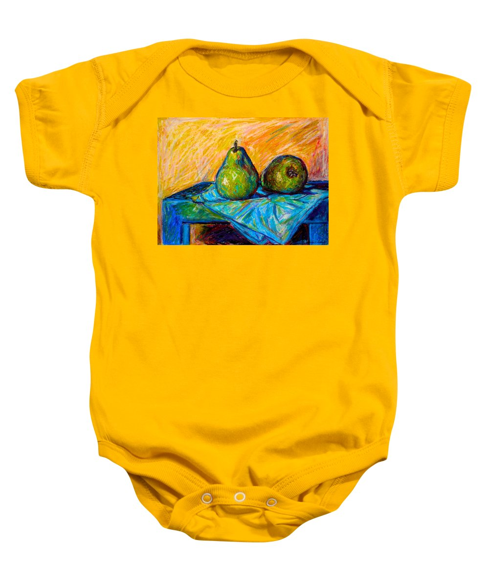 Still Life Baby Onesie featuring the painting Other Pears by Kendall Kessler