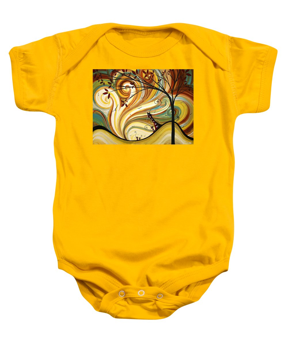 Art Baby Onesie featuring the painting Out West Original Madart Painting by Megan Duncanson