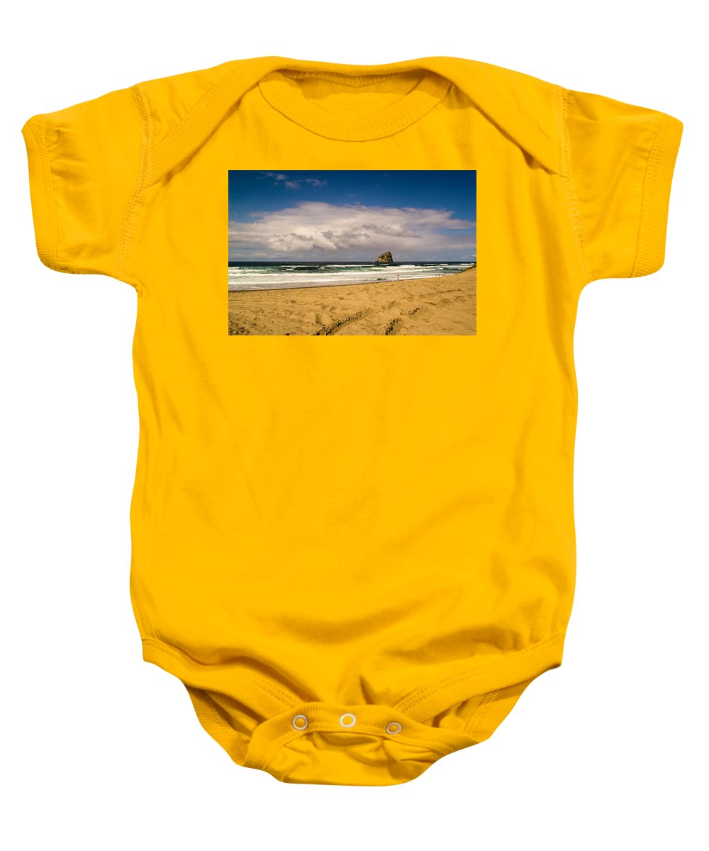 Pacific City Baby Onesie featuring the photograph Pacific City by Indecisivelykat Photography