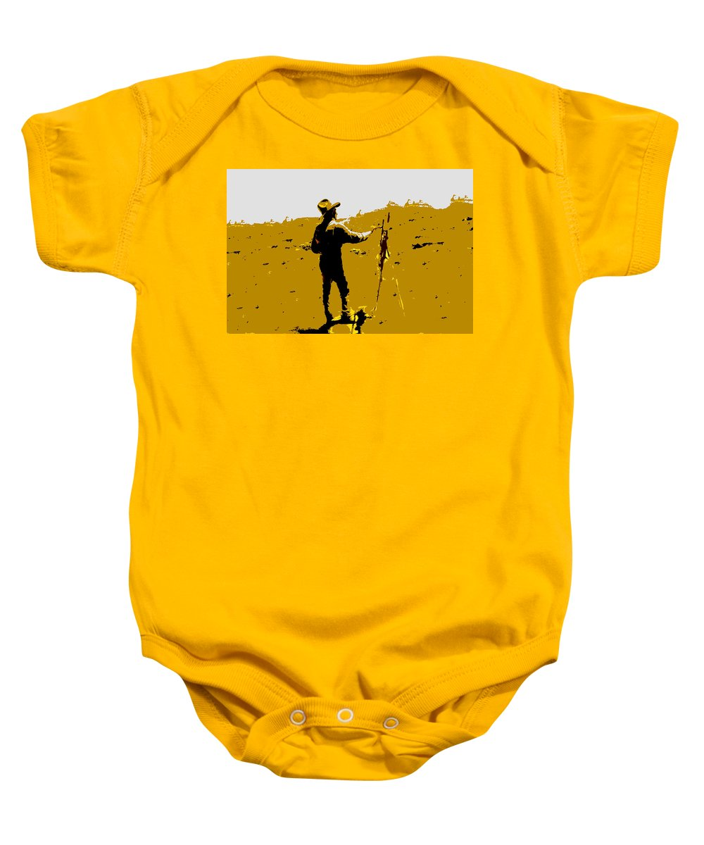 Painting Baby Onesie featuring the painting Painting Cowboy by David Lee Thompson