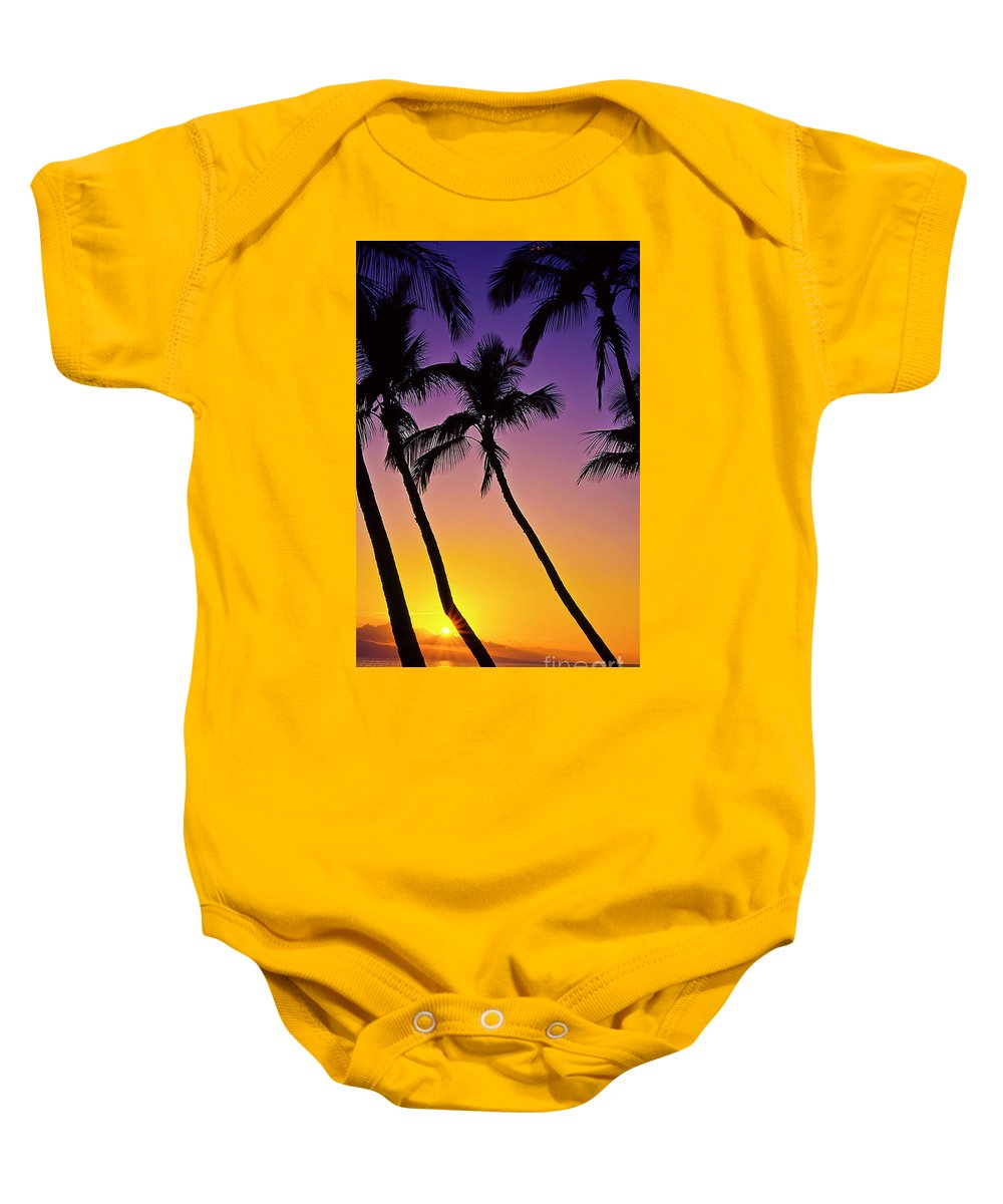 Sunset Baby Onesie featuring the photograph Paradise by Jim Cazel