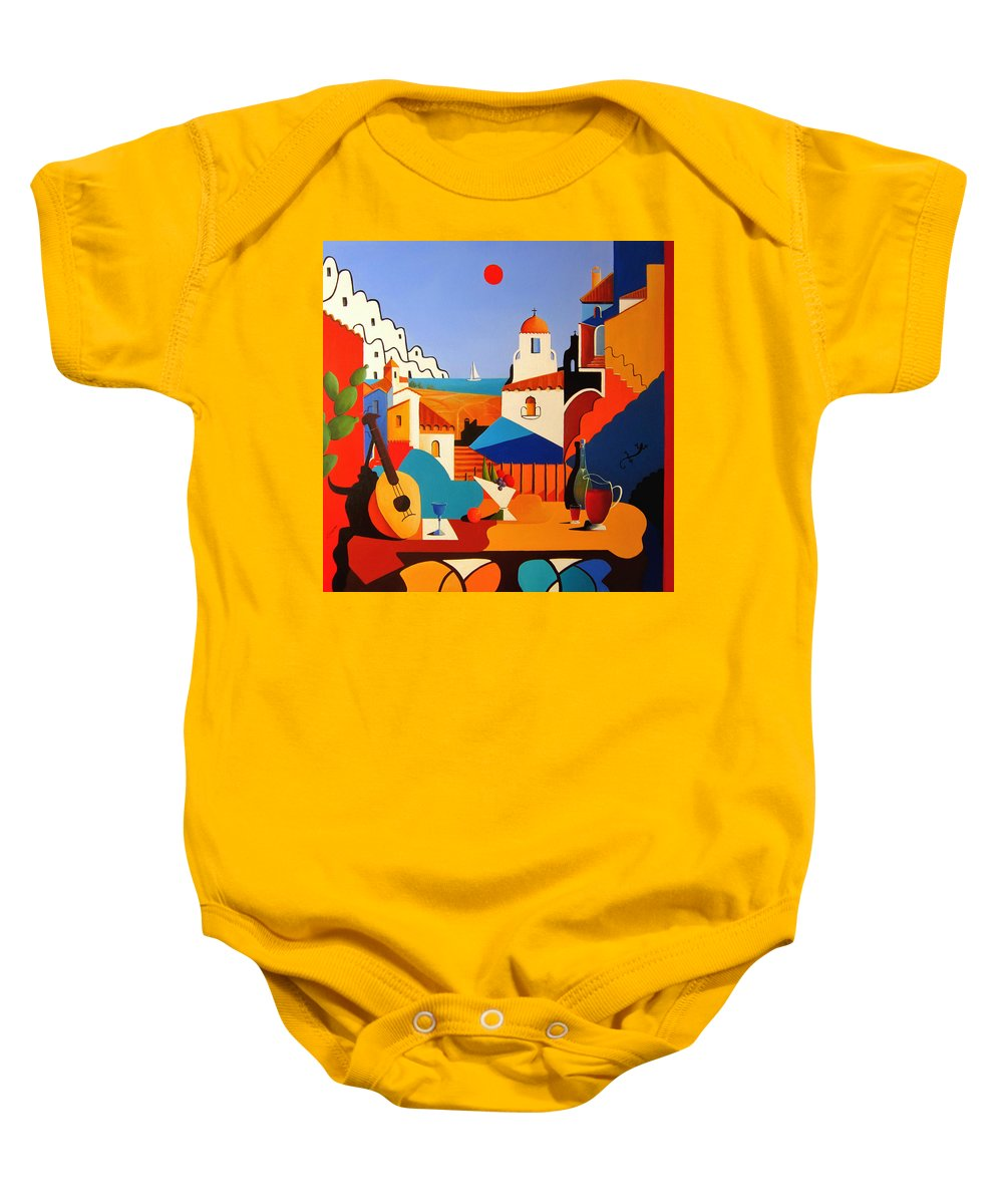 Passion For Life Baby Onesie featuring the painting Passion For Life Spain by Ray Gilronan