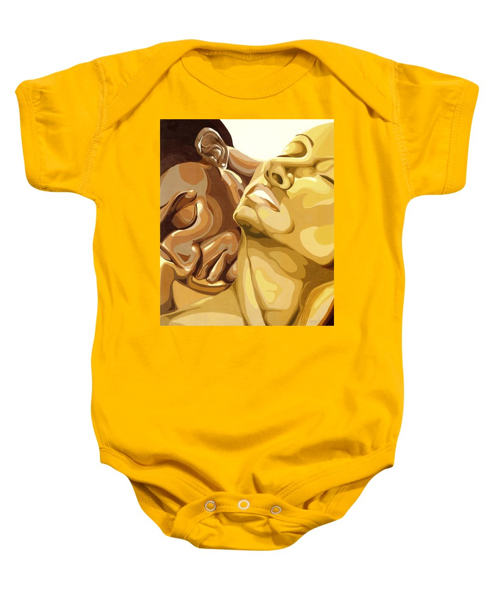Figures Baby Onesie featuring the painting Passion by Lamark Crosby