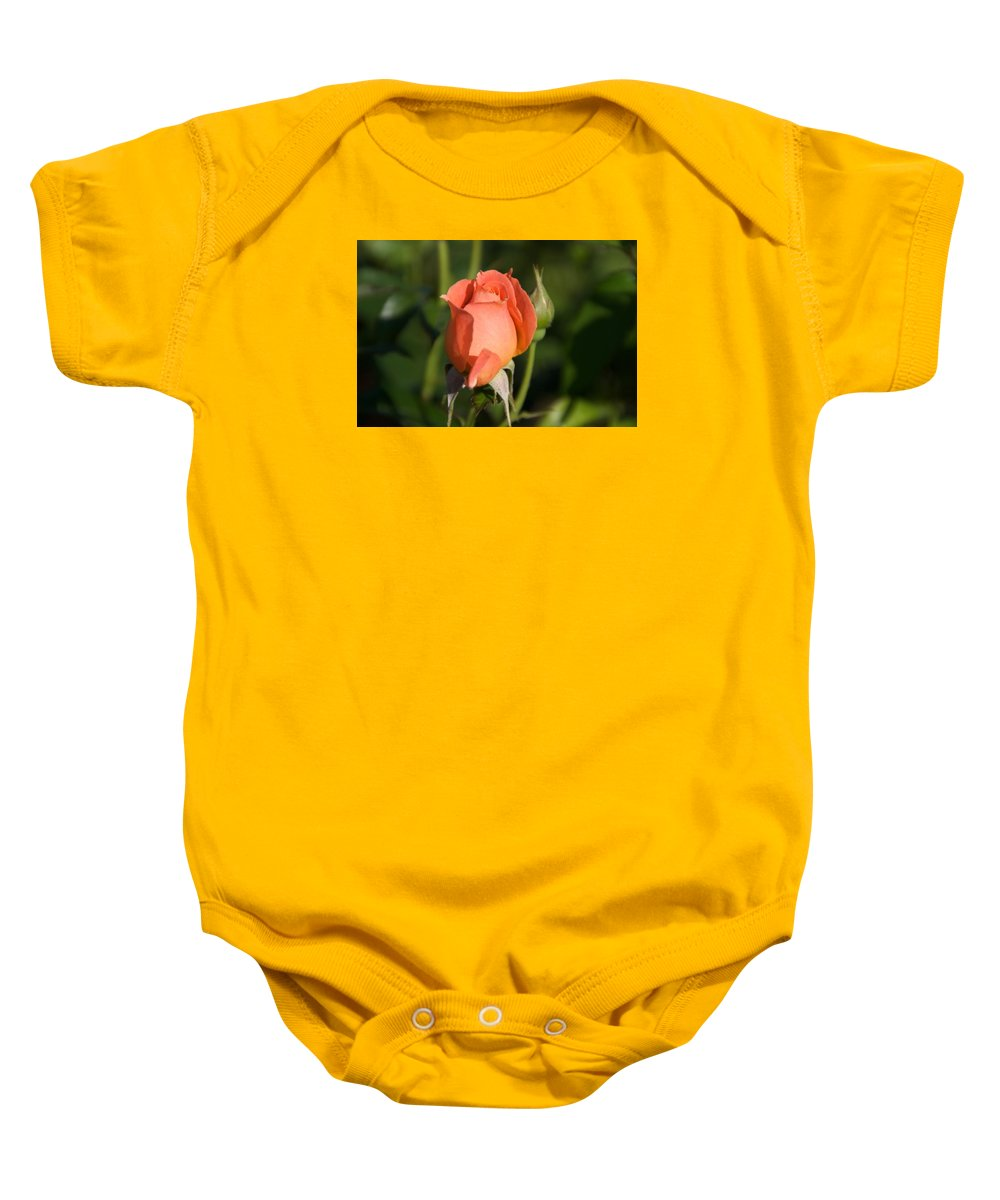Rose Baby Onesie featuring the photograph Peach Rose by Toni Berry