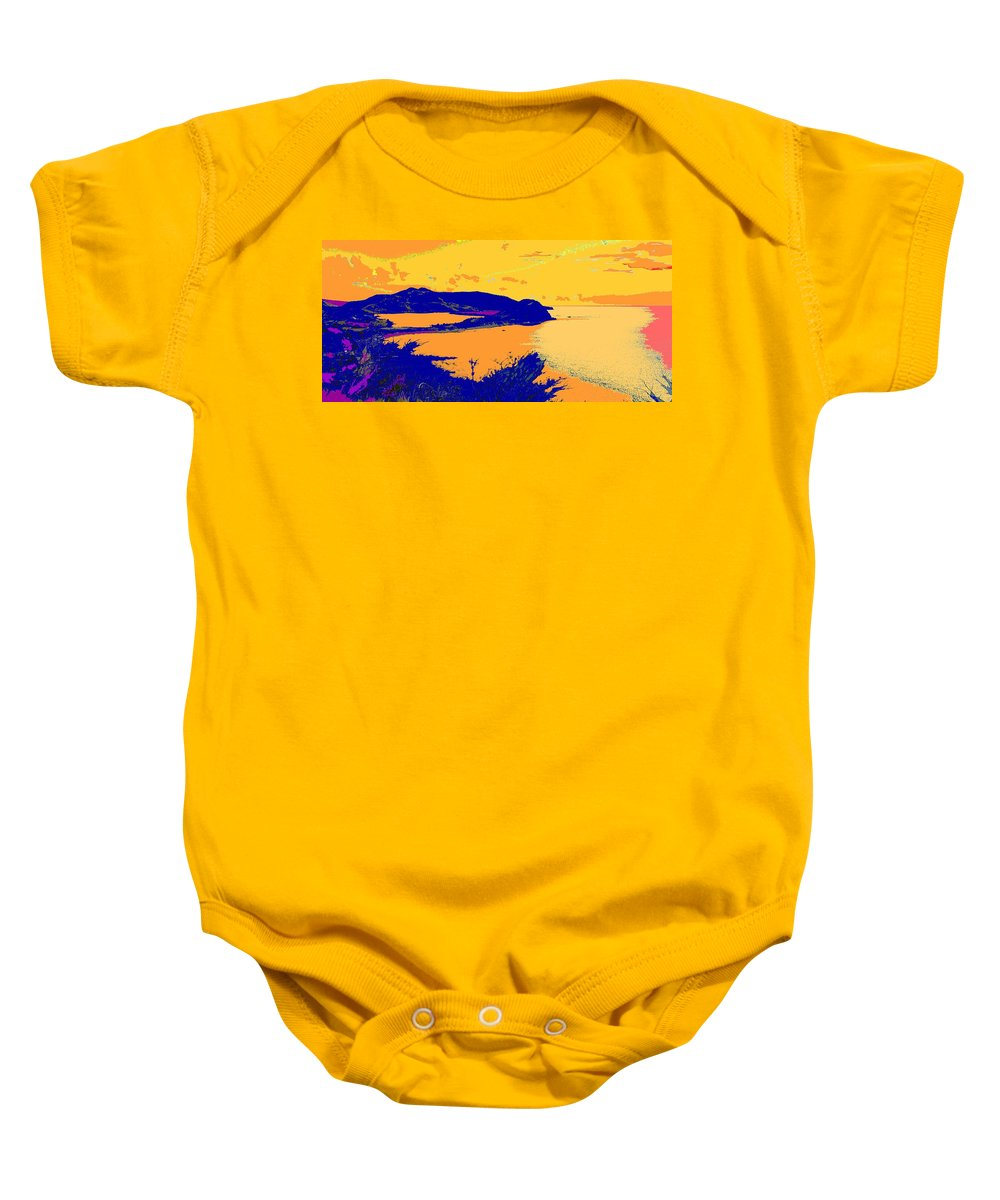 St Kitts Baby Onesie featuring the photograph Peninsula Orange by Ian MacDonald