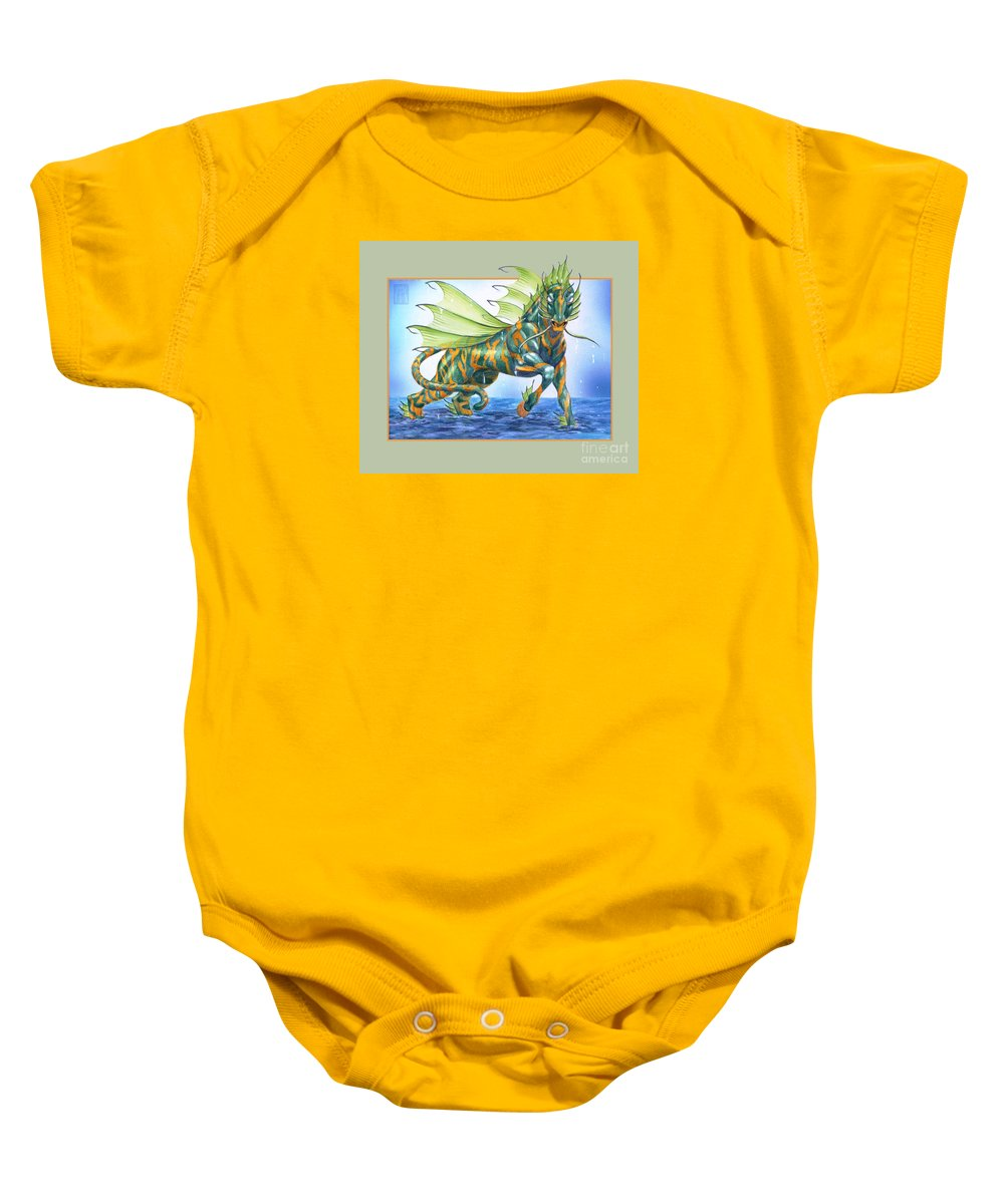 Fantasy Baby Onesie featuring the digital art Phantasmal Mount by Melissa A Benson