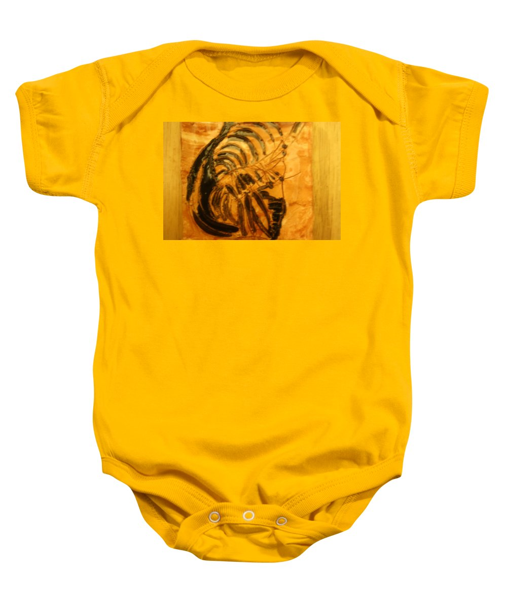 Jesus Baby Onesie featuring the ceramic art Philemon - Tile by Gloria Ssali