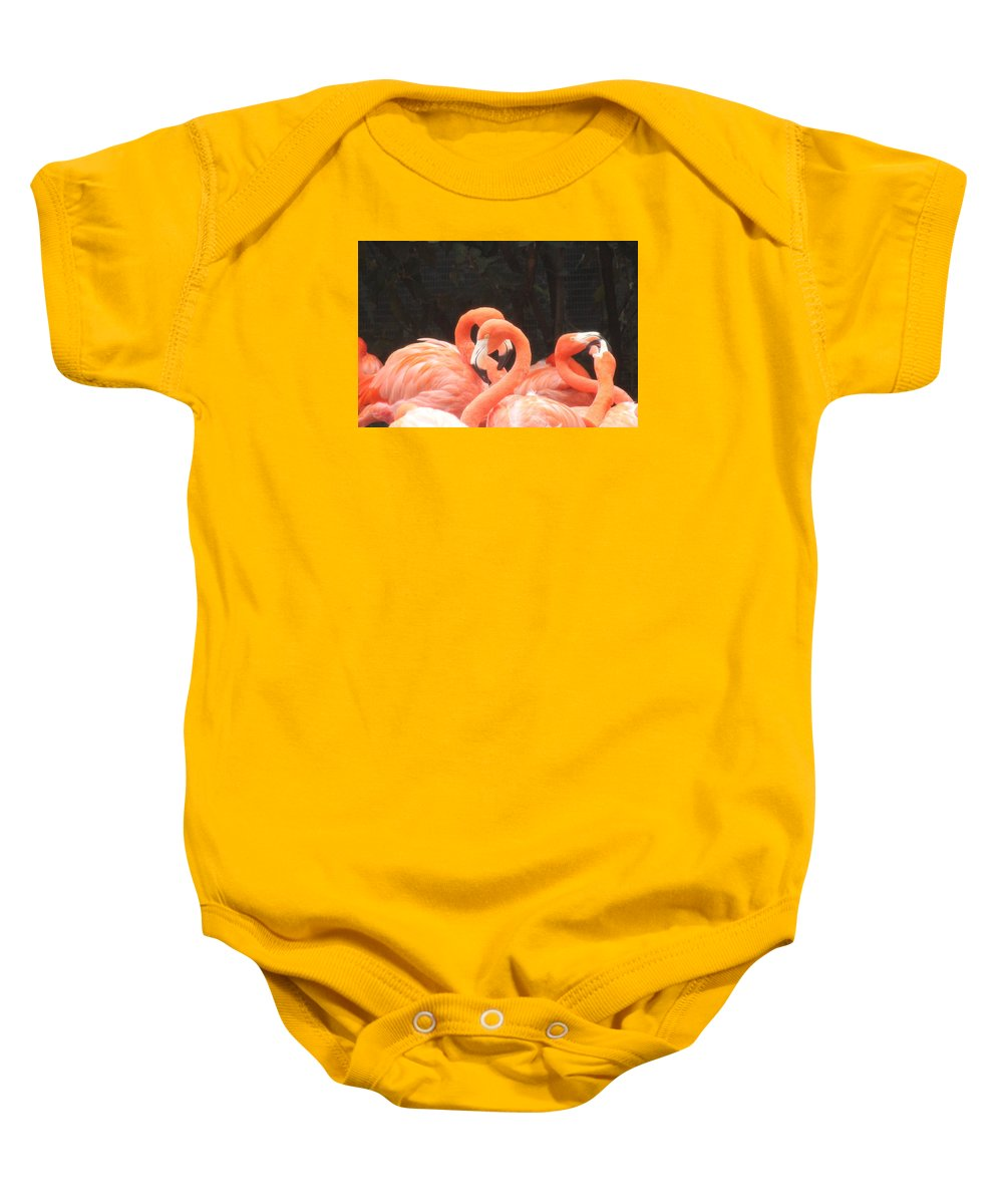 Flamingo Heart Baby Onesie featuring the photograph Photography by Ahmed Alyammahi